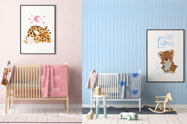 Illustrazioni per bambini - Surface Pattern Design per arredo ed oggettistica per bambini