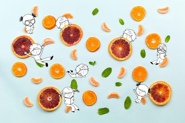 Frutta e verdura in gioco