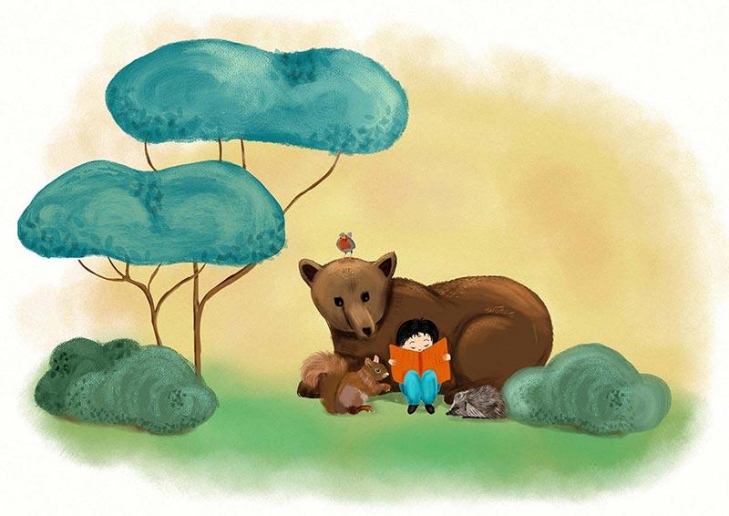 Libri per bambini, album illustrati, illustrazioni