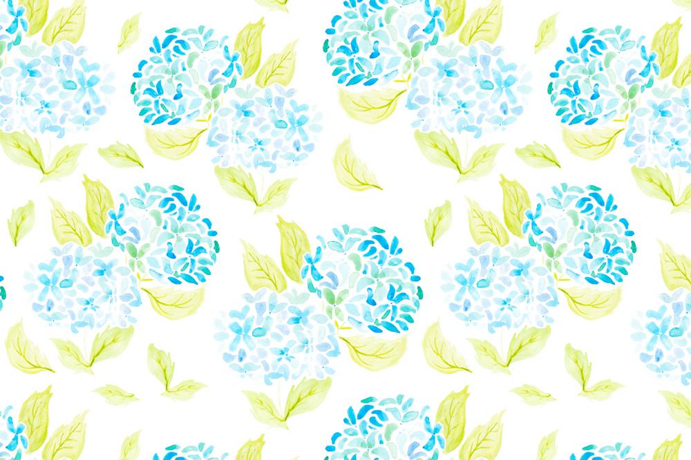 Barbara Marini - Illustrazioni per Surface Pattern Design - fiori ad acquerello