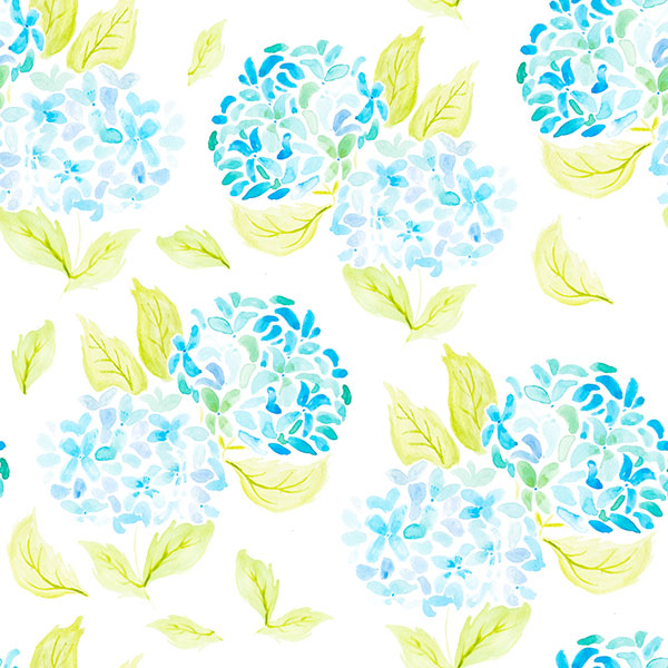 Barbara Marini - Illustrazioni per Surface Pattern Design - fiori ad acquerello