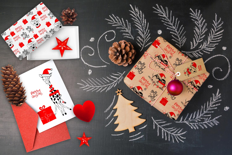 Collezione di risorse grafiche, biglietti d'auguri, illustrazioni e pattern di Natale