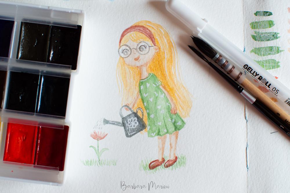 Illustrazioni personalizzate ad acquerello