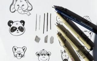 Set di pennelli per disegni digitali effetto china per Adobe Illustrator: download gratuito