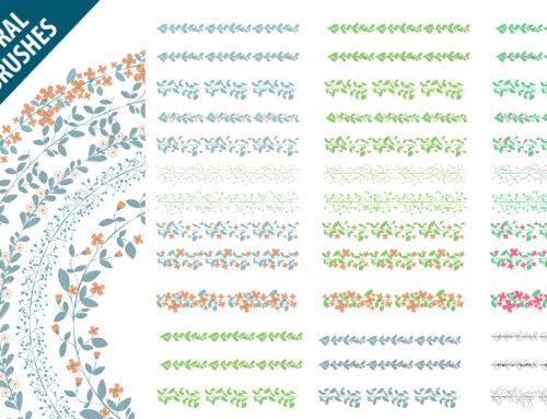 Set di pennelli pattern vettoriali per illustrazioni in Adobe Illustrator
