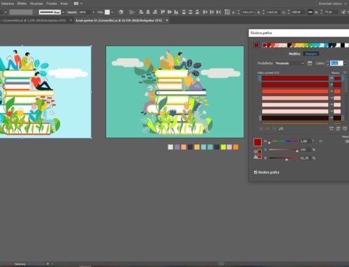 Varianti colore con Ricolora grafica di Adobe Illustrator