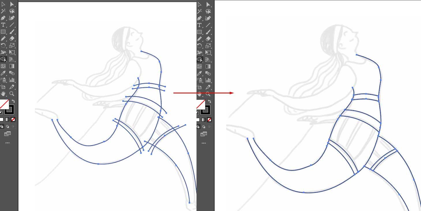 Strumento crea forme di Adobe Illustrator