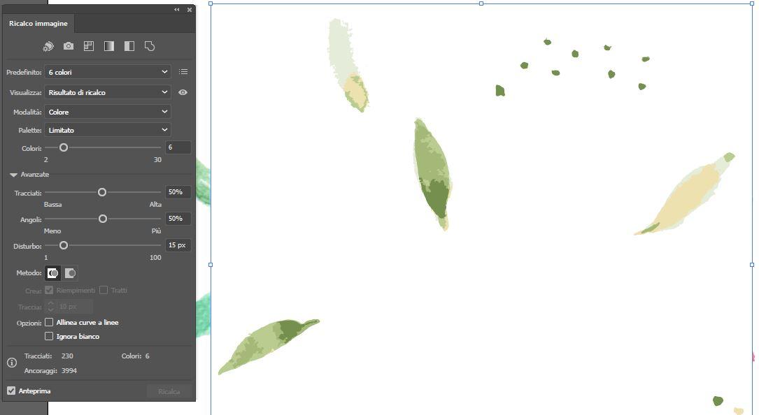 Strumento Ricalco immagine di Adobe Illustrator