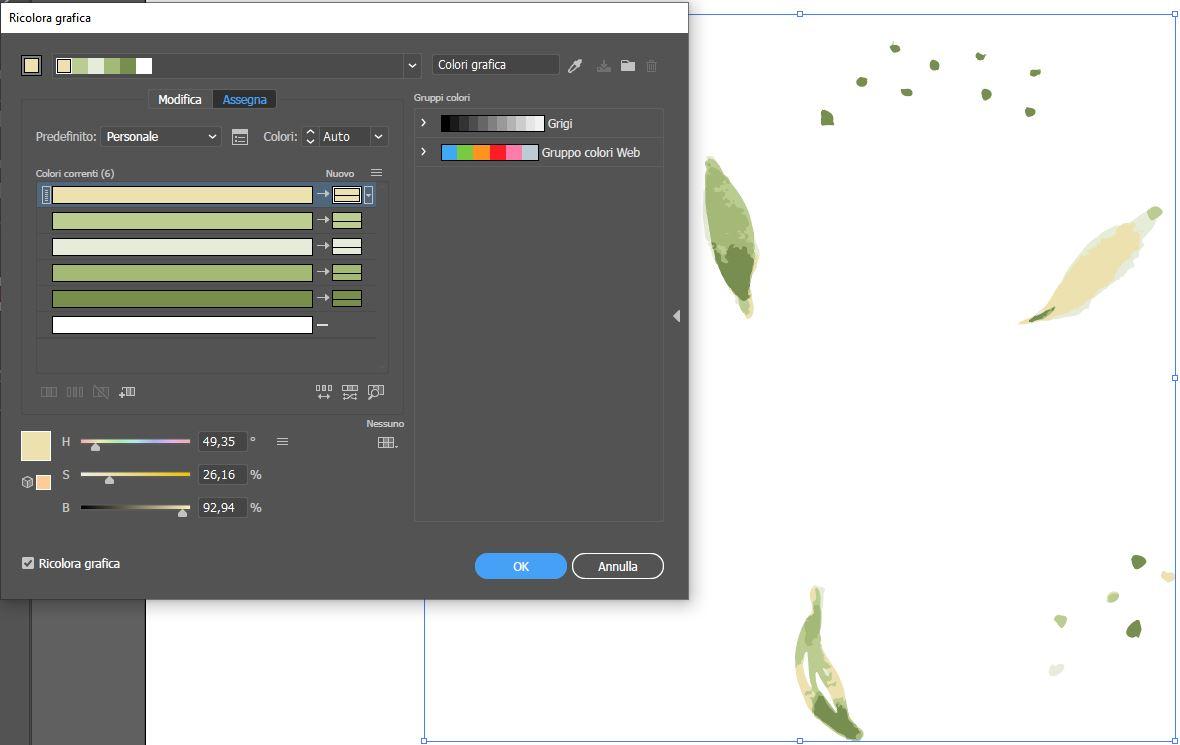 Strumento Ricolora grafica Adobe Illustrator