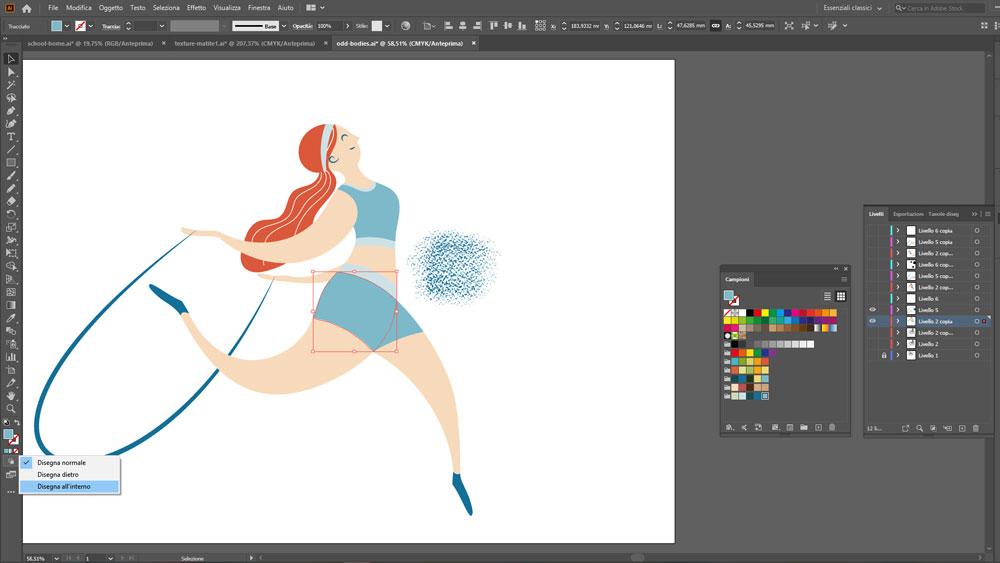 Texture vettoriali personalizzate illustrazioni Adobe Illustrator