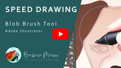 Copertina video tutorial youtube sullo strumento Blob Brush di Illustrator
