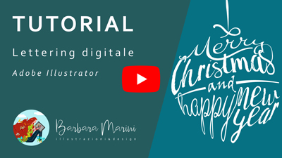 Copertina video tutorial youtube sul lettering digitale